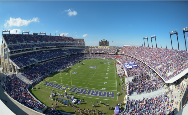 Amon Carter Stadium, home of the TCU Horned Frogs