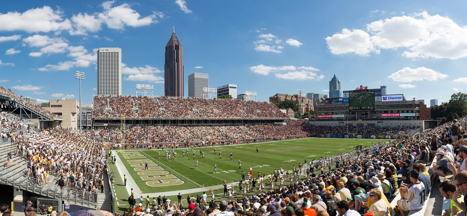 Bobby Dodd Stadium, home of the Georgia Tech Yellow Jackets