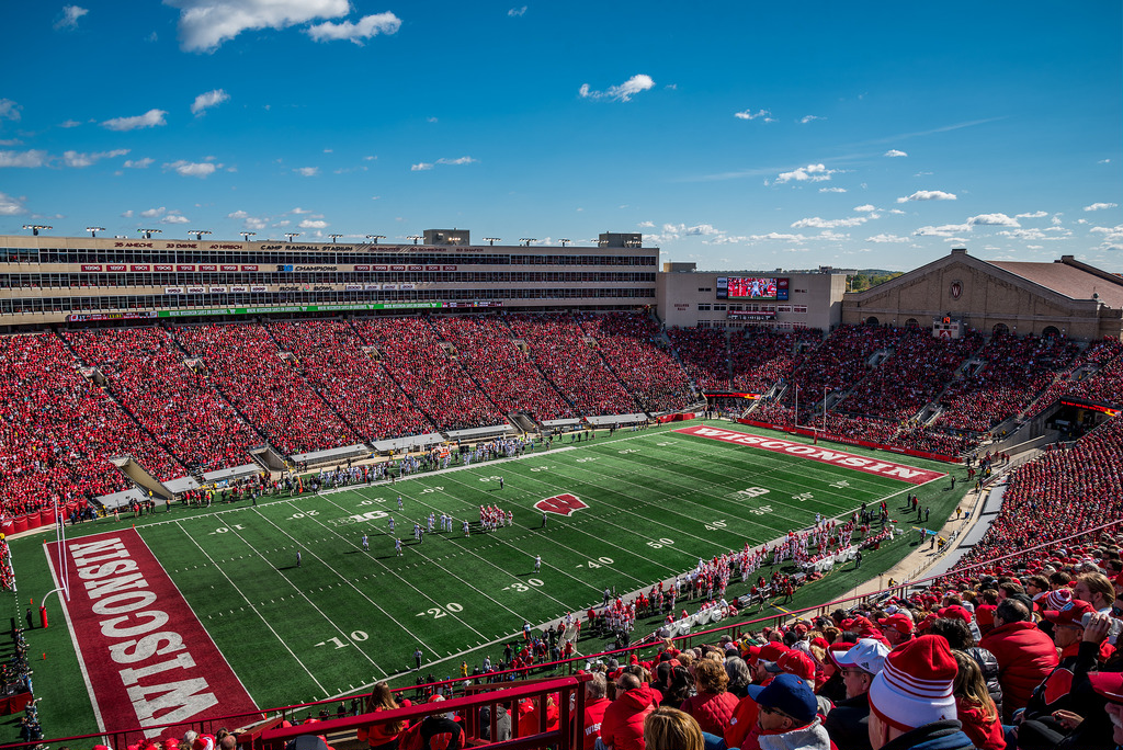 Camp Randall Stadium, home of the Wisconsin Badgers