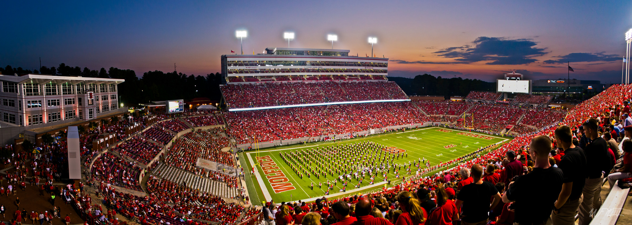 Carter Finley Stadium, home of the NC State Wolfpack