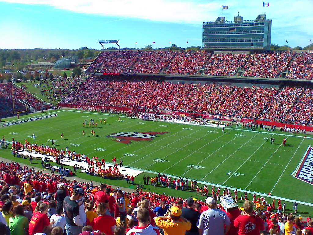 Jack Trice Stadium, home of the Iowa State Cyclones