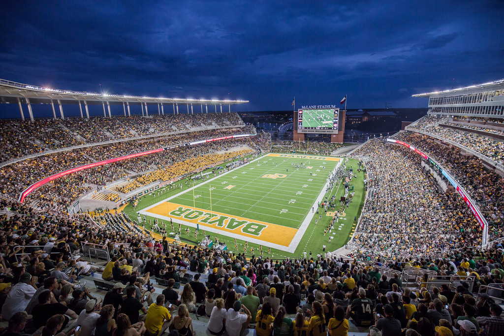 McLane Stadium, home of the Baylor Bears