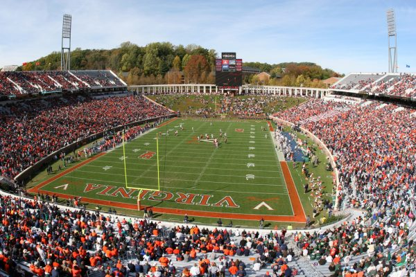 Scott Stadium, home of the Virginia Cavaliers