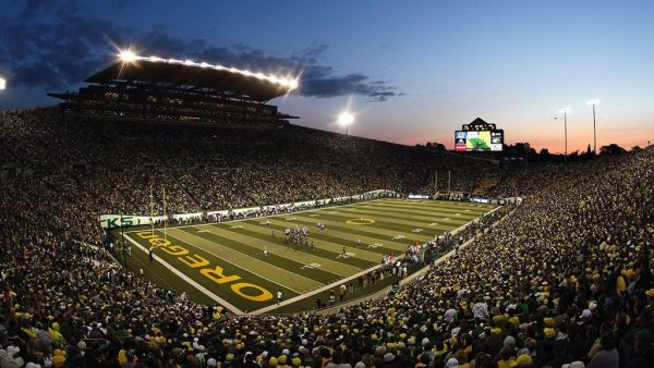 Autzen Stadium, home of the Oregon Ducks