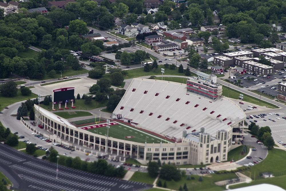 Memorial Stadium, home of the Indiana Hoosiers