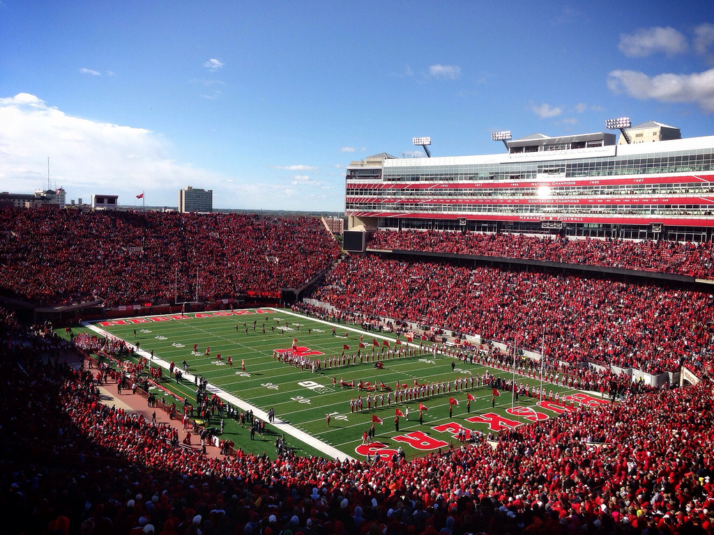 Memorial Stadium, home of the Nebraska Cornhuskers