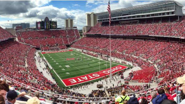 Ohio Stadium, home of the Ohio State Buckeyes