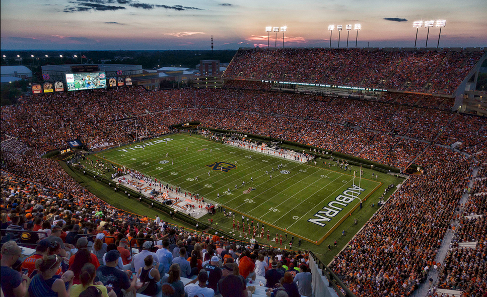 Jordan Hare Stadium, home of the Auburn Tigers