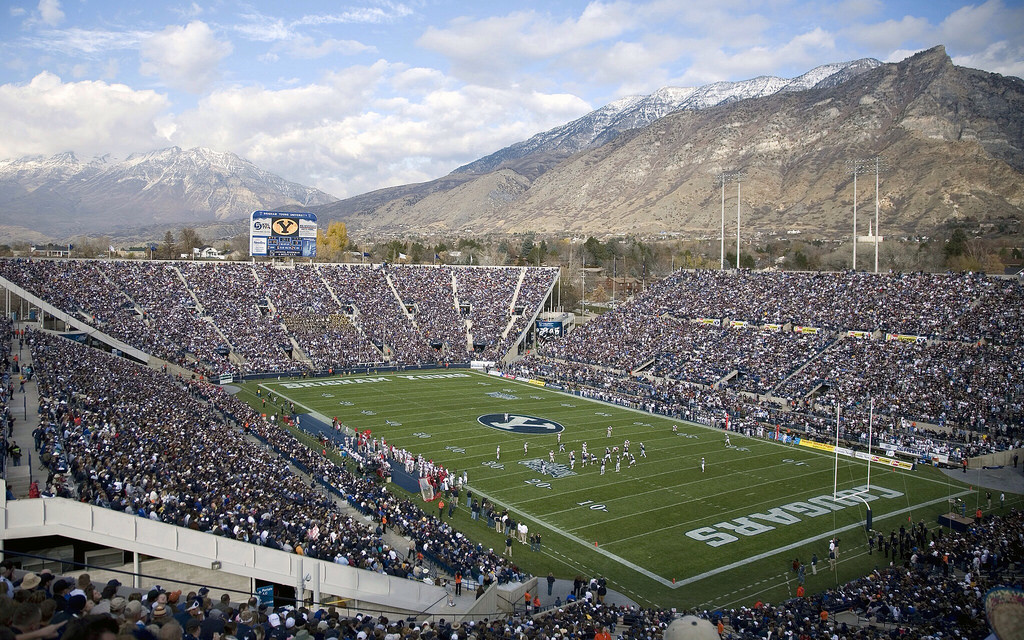 LaVell Edwards Stadium, home of the BYU Cougars