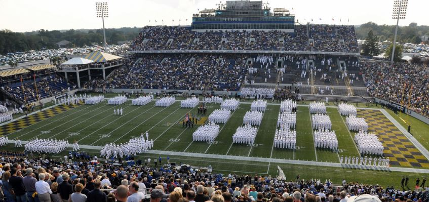 Memorial Stadium, home of the Navy Midshipmen