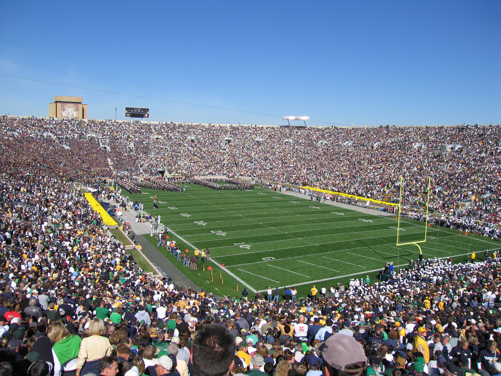 Notre Dame Stadium, home of the Notre Dame Fighting Irish