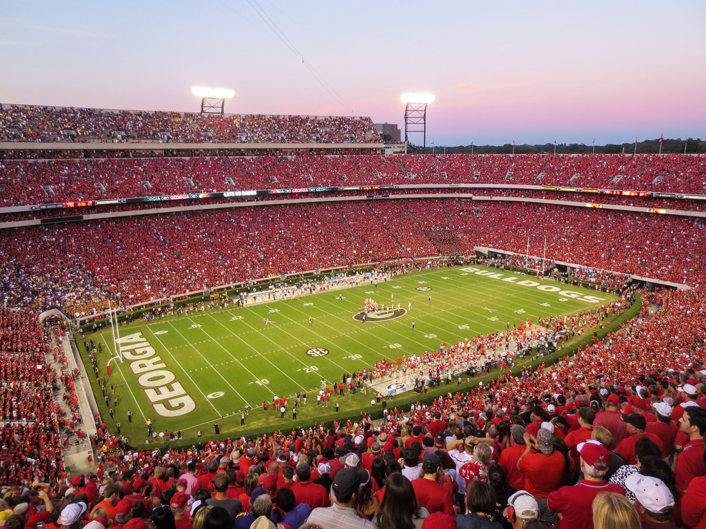Sanford Stadium, home of the Georgia Bulldogs