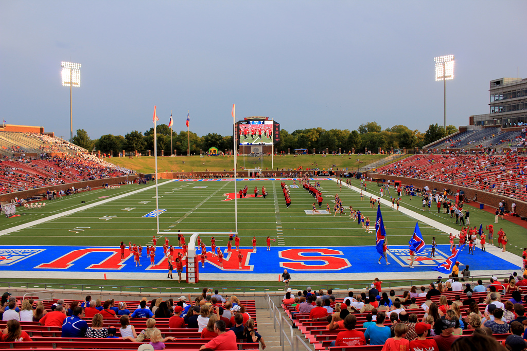 Gerald Ford Stadium, home of the SMU Mustangs