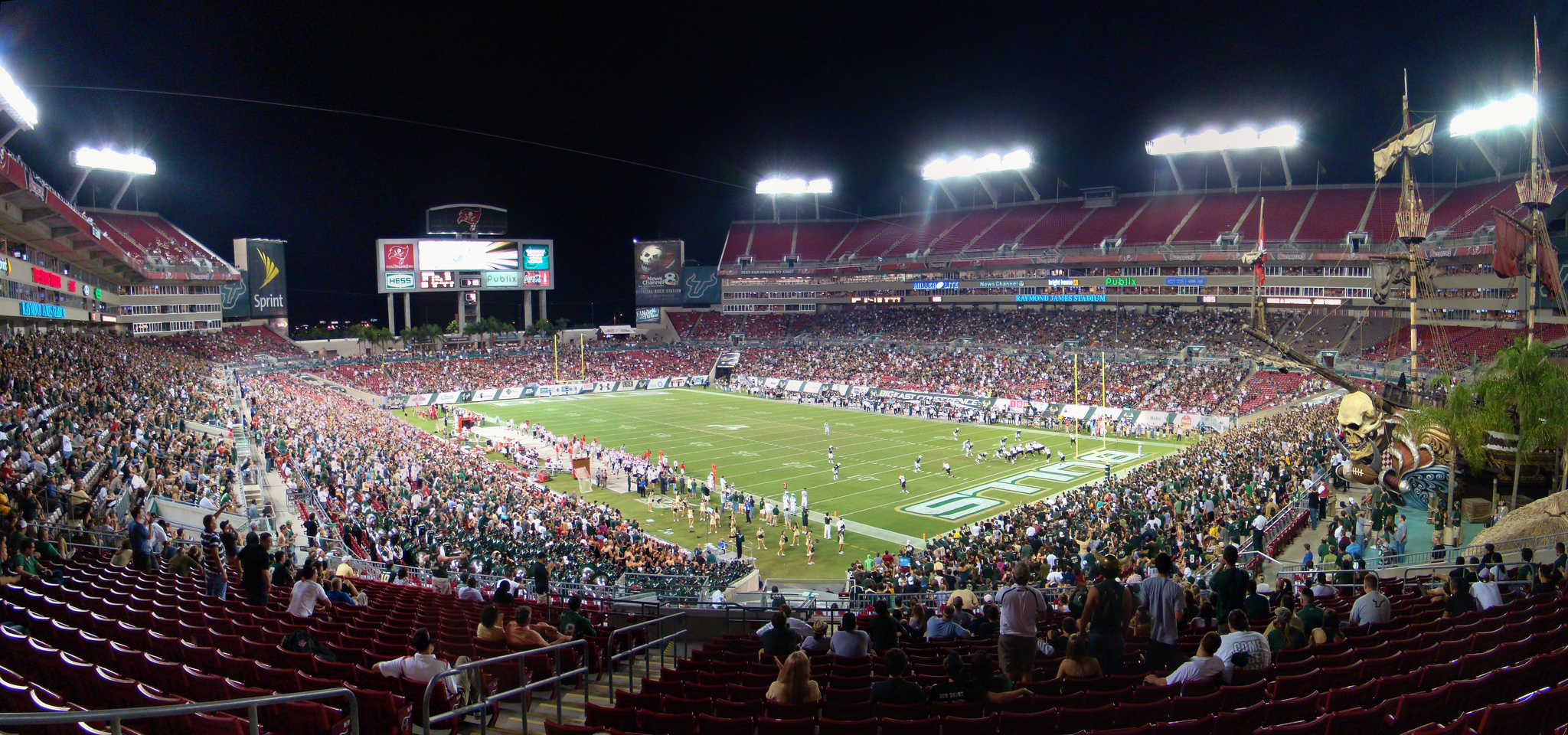 Raymond James Stadium, home of the University of South Florida Bulls