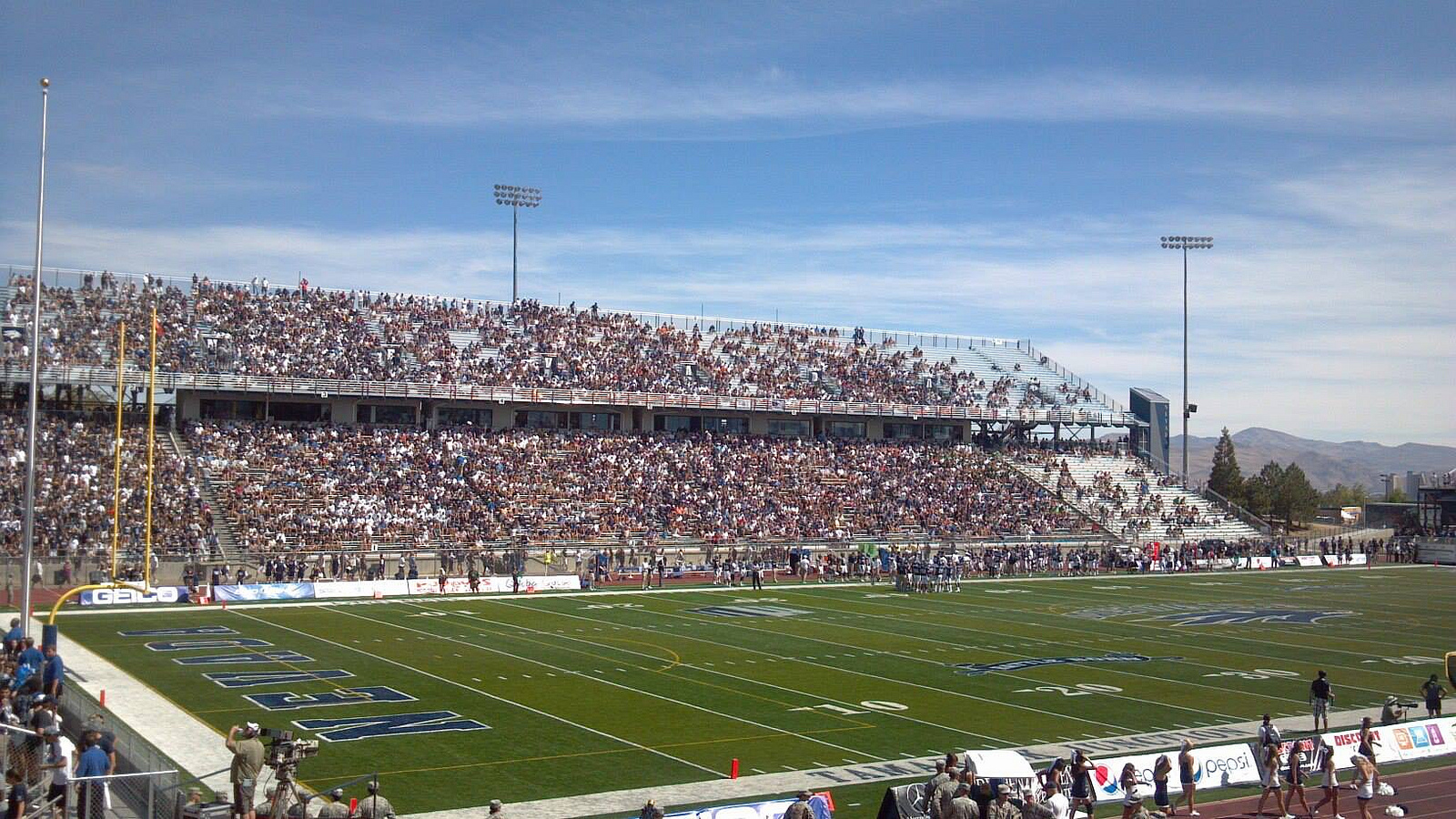 MacKay Stadium, home of the Nevada Wolfpack
