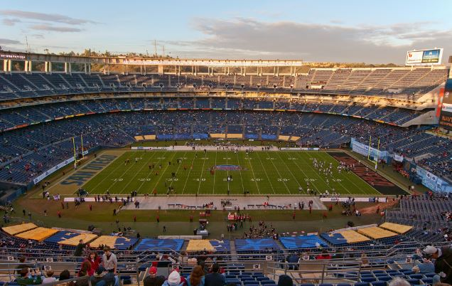 Qualcomm Stadium, home of the San Diego Aztecs - Picture: Mark Whitt