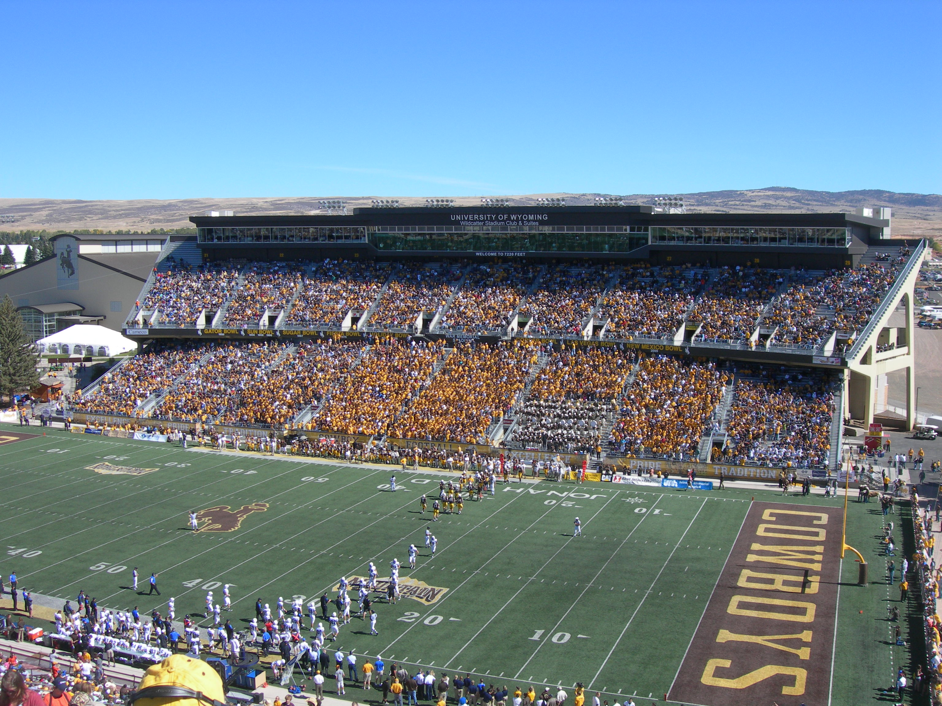War Memorial Stadium, home of the Wyoming Cowboys