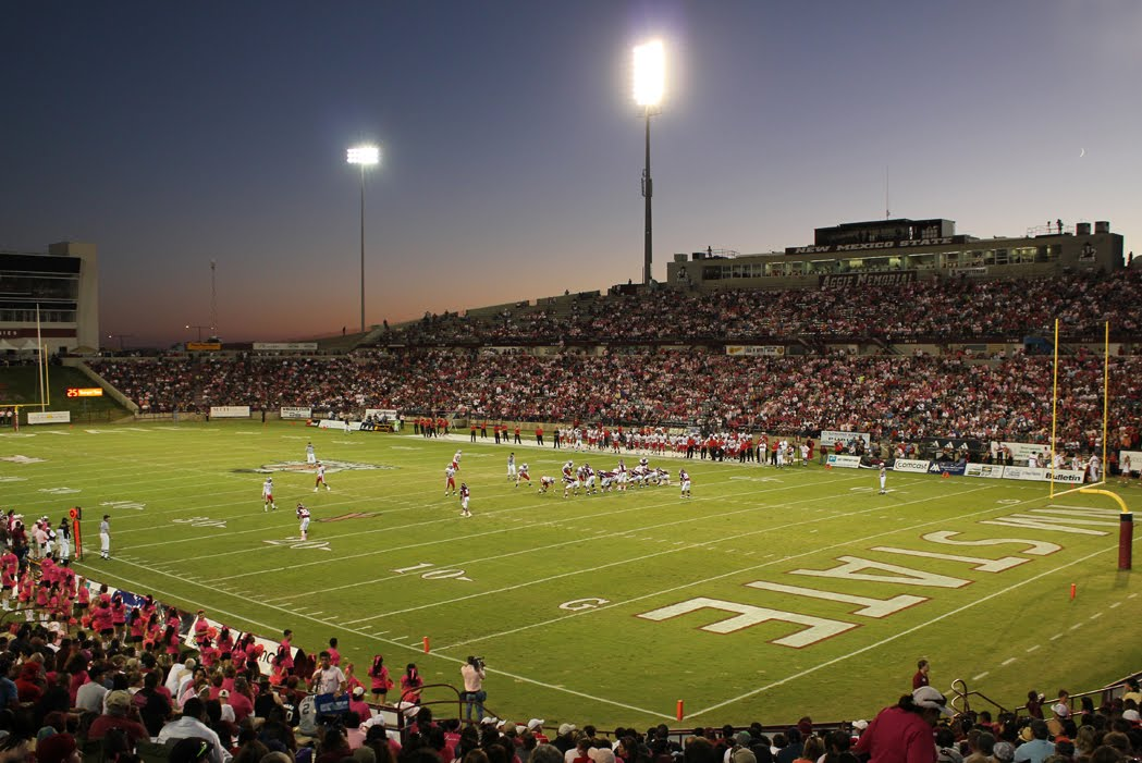 Aggie Memorial Stadium, home of the New Mexico State Aggies