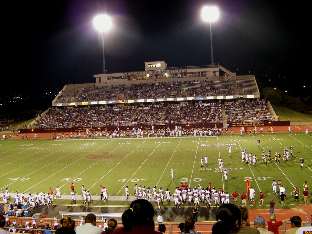 Bobcat Stadium, home of the Texas State Bobcats