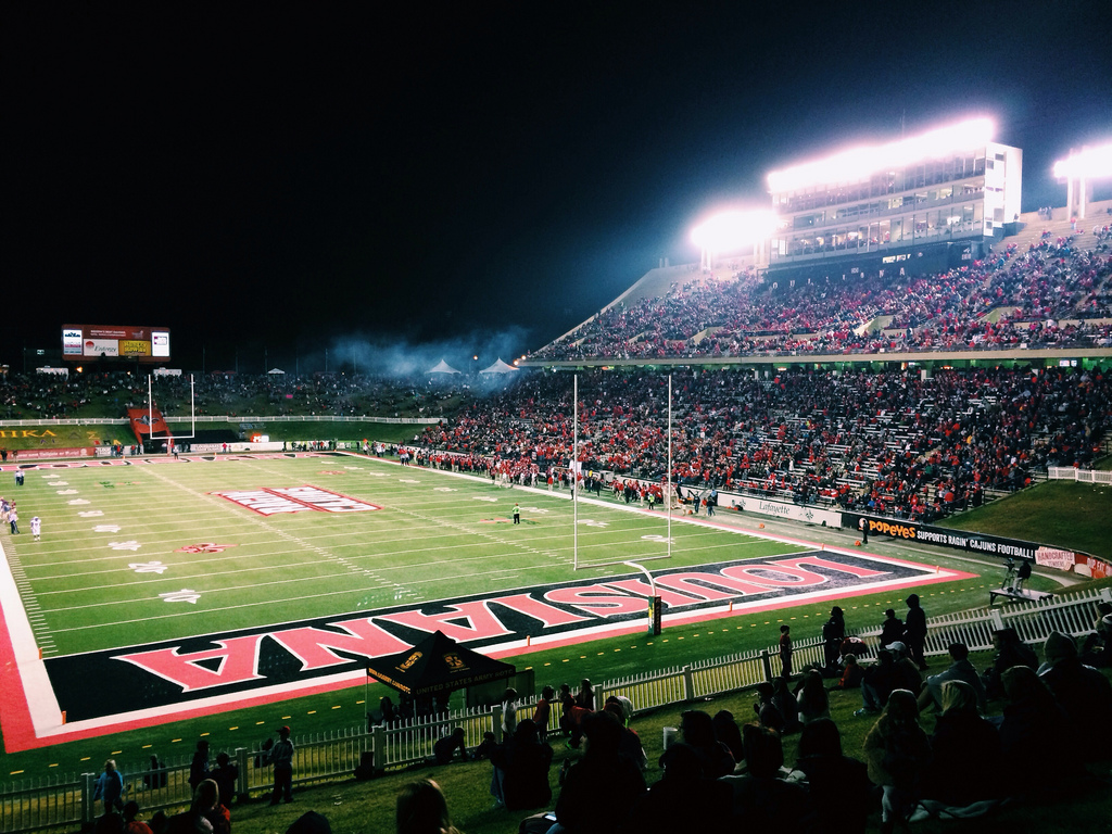 Cajun Field, home of the Louisiana Ragin Cajuns