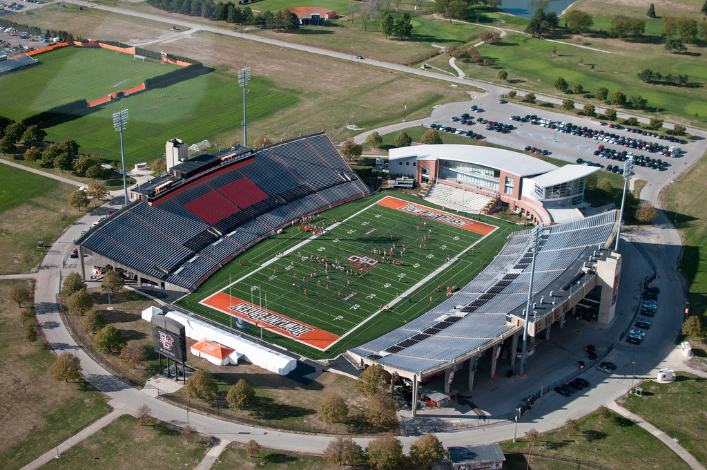 Doyt Perry Stadium, home of the Bowling Green Falcons