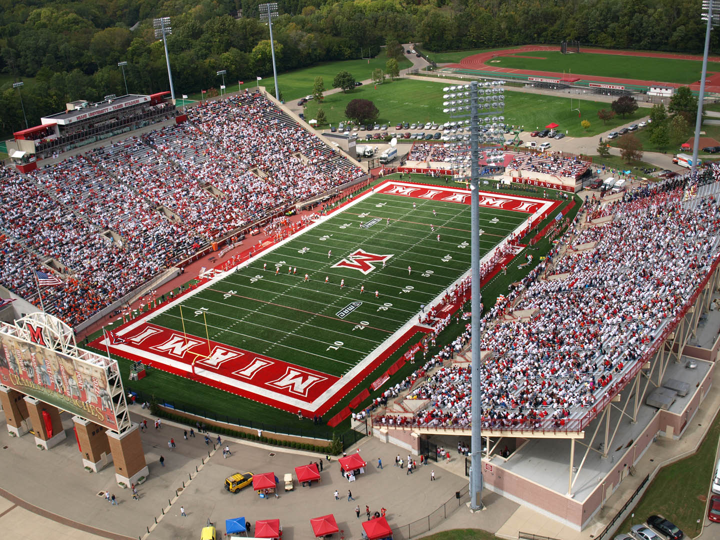 Fred Yager Stadium, home of the Miami-OH Redhawks