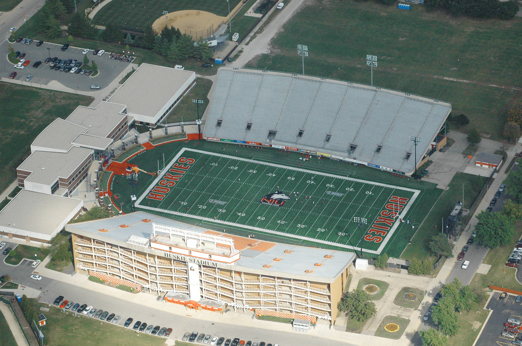 Huskie Stadium, home of the Northern Illinois Huskies