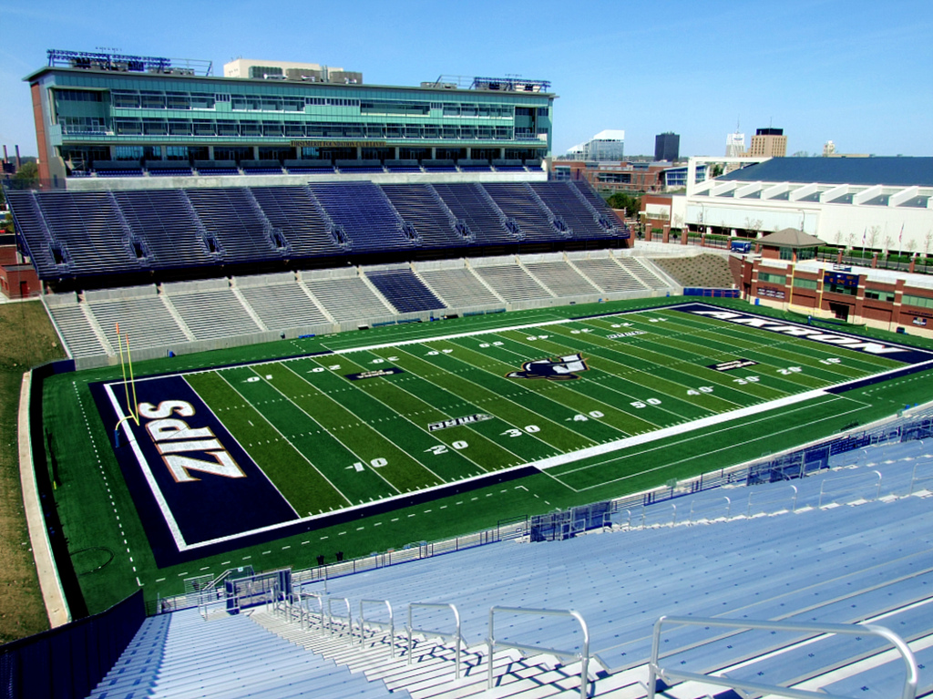 Infocision Stadium, home of the Akron Zips