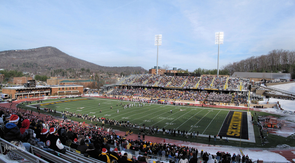 Kidd Brewer Stadium, home of the Appalachian State Mountaineers