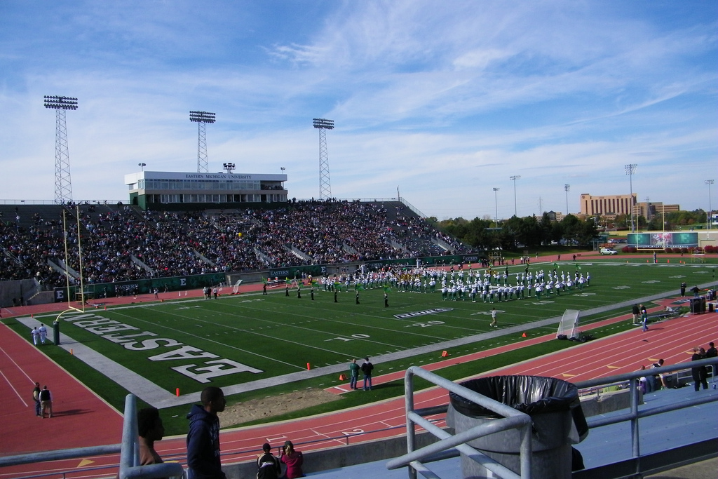 Rynearson Stadium, home of the Eastern Michigan Eagles