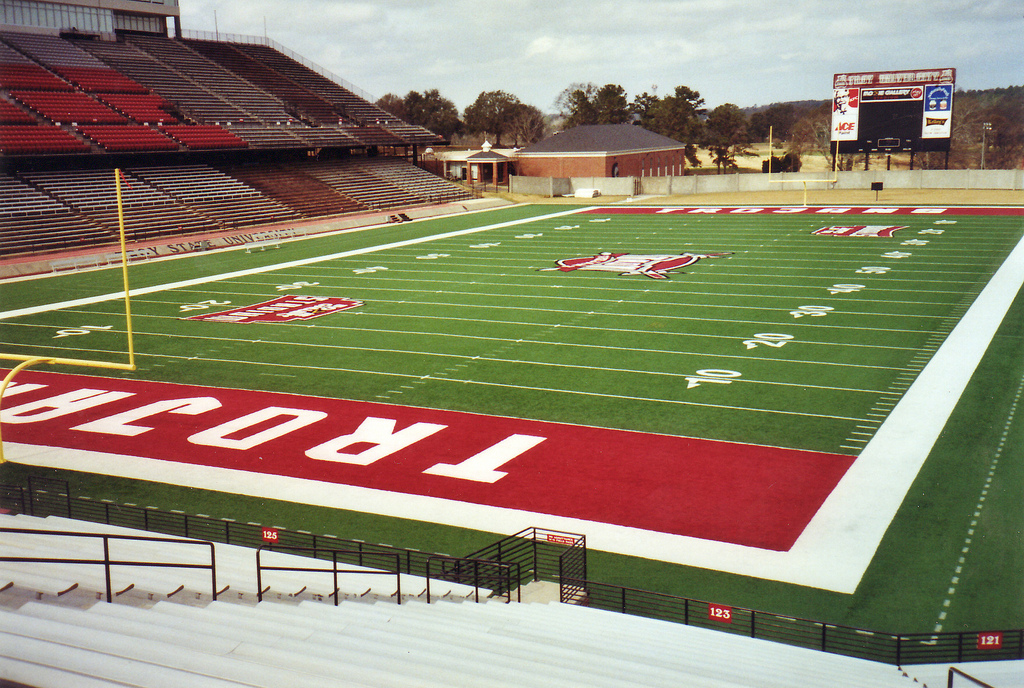 Veterans Memorial Stadium, home of the Troy Trojans