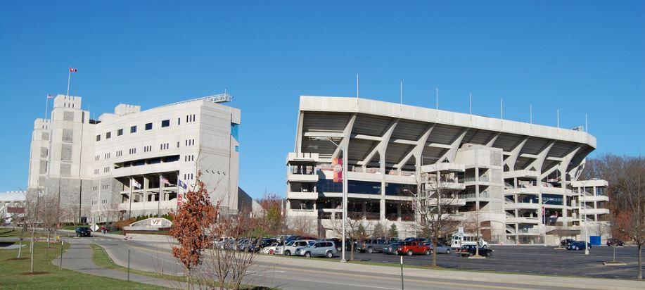 Lane Stadium, home of the Virginia Tech Hokies