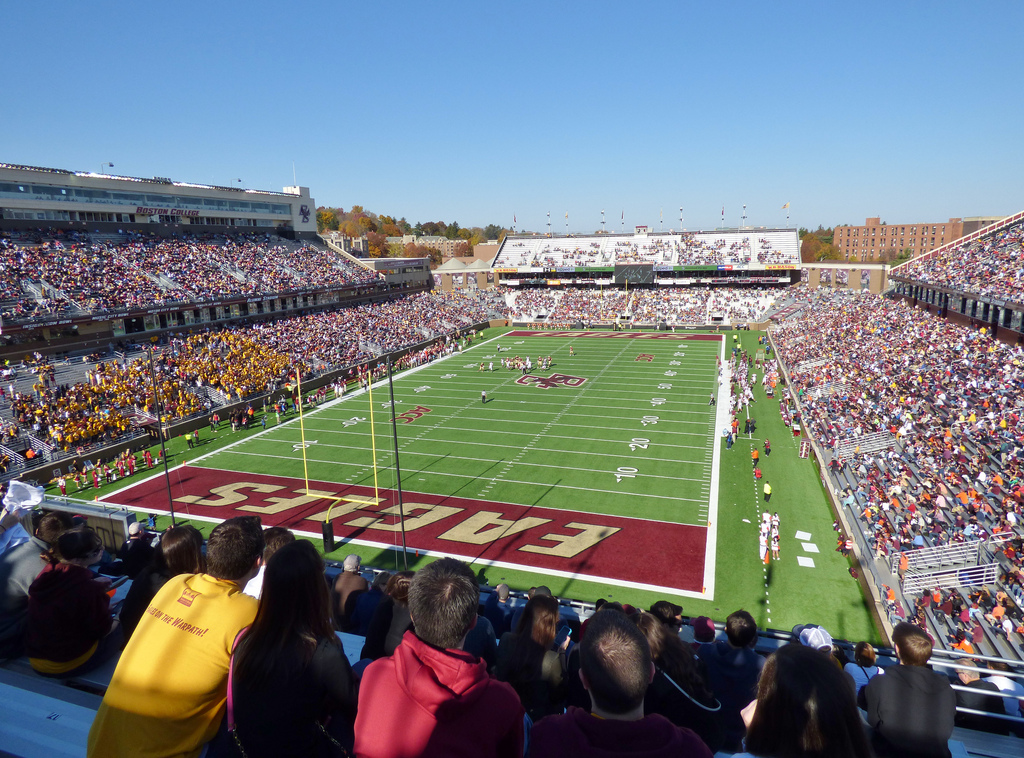 Alumni Stadium, home of the Boston College Eagles