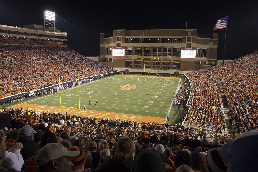 Boone Pickens Stadium, home of the Oklahoma State Cowboys