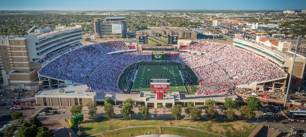 Jones AT&T Stadium, home of the Texas Tech Red Raiders