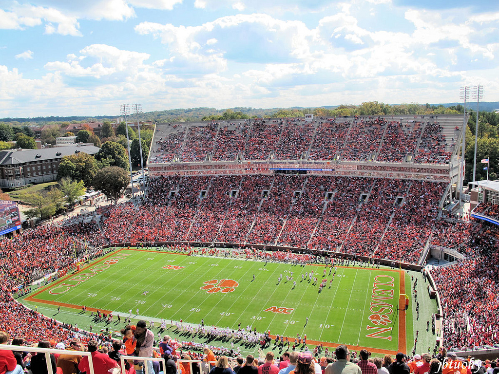 Memorial Stadium, home of the Clemson Tigers