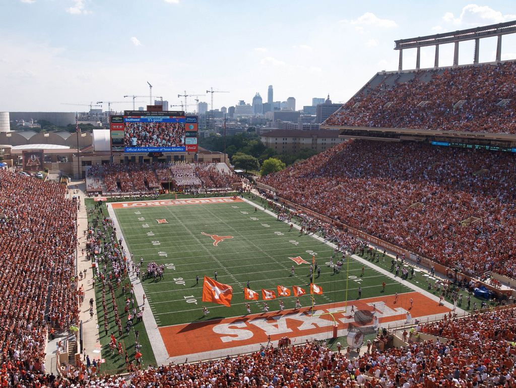 Royal Memorial Stadium, home of the Texas Longhorns