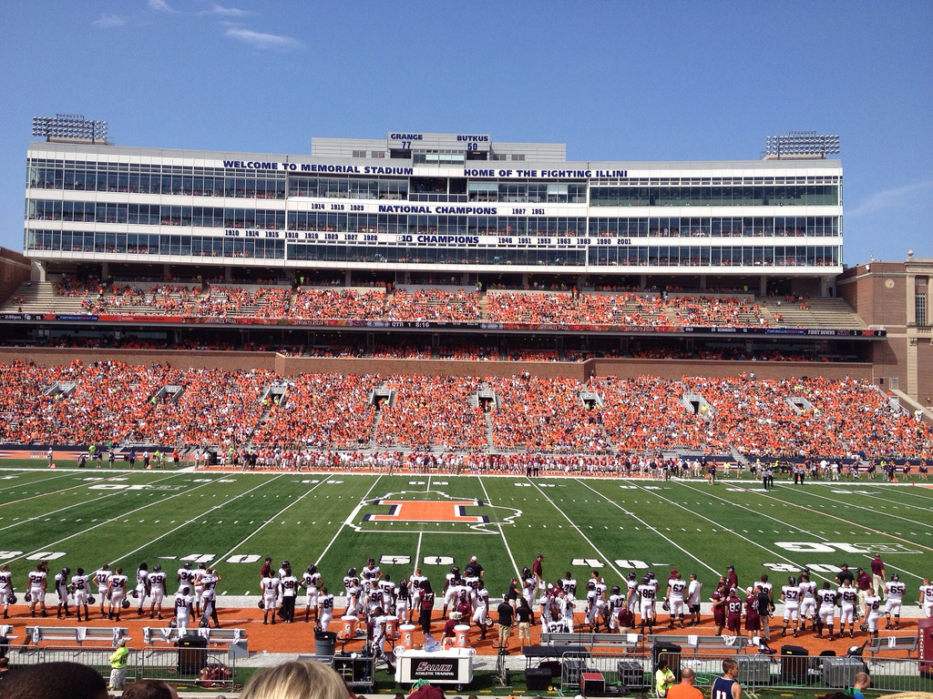 Memorial Stadium, home of the Illinois Fighting Illini