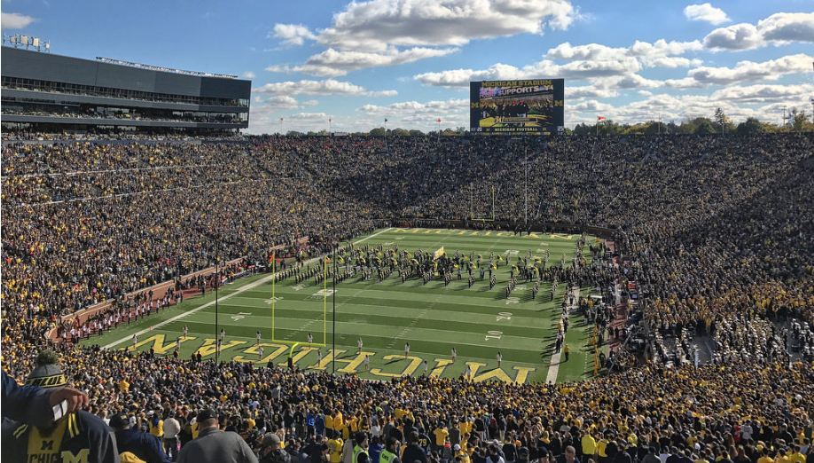 michigan stadium facts figures pictures and more of the michigan wolverines college football stadium college gridirons