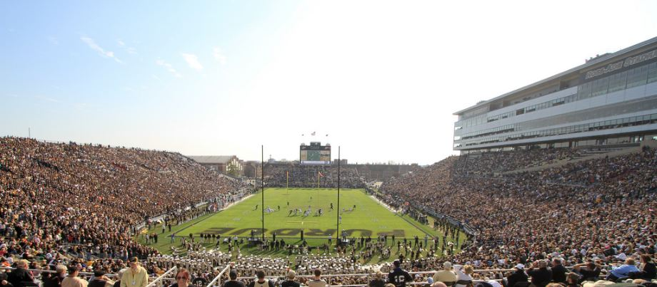 Ross Ade Stadium, home of the Purdue Boilermakers