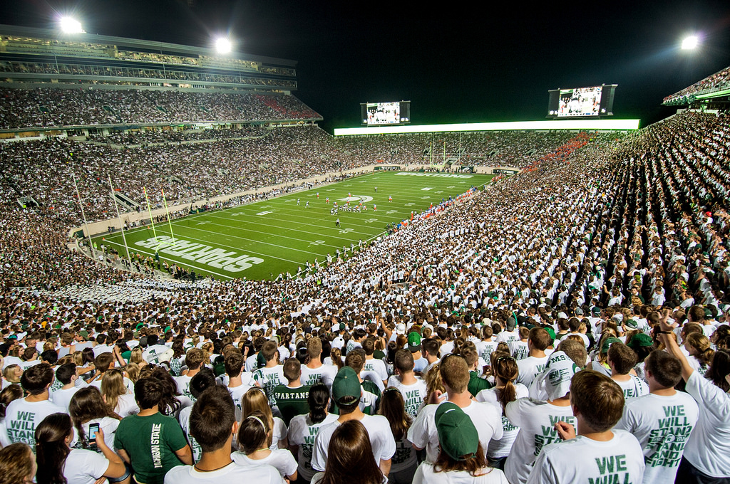 Spartan Stadium, home of the Michigan State Spartans