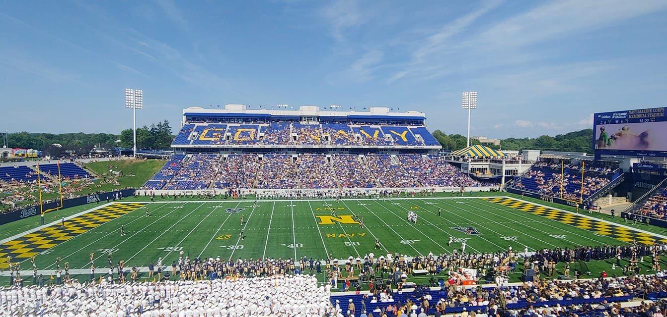 Memorial Stadium, home of the Navy Midshipmen