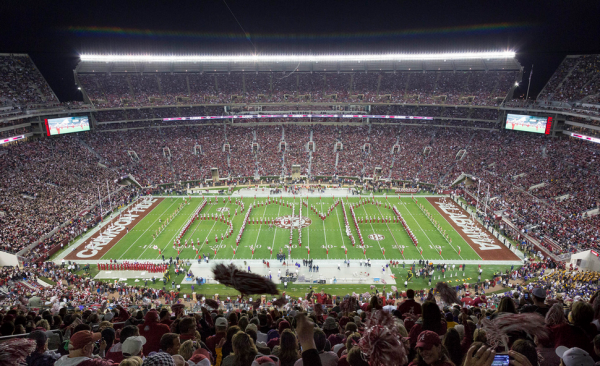 Bryant Denny Stadium, home of the Alabama Crimson Tide