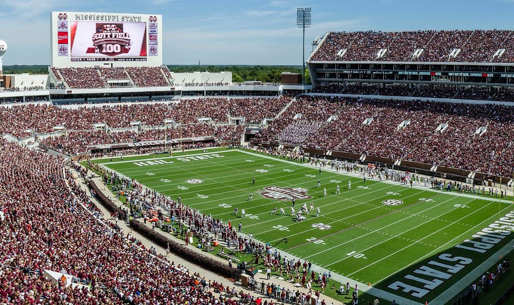 Davis Wade Stadium, home of the Mississippi State Bulldogs