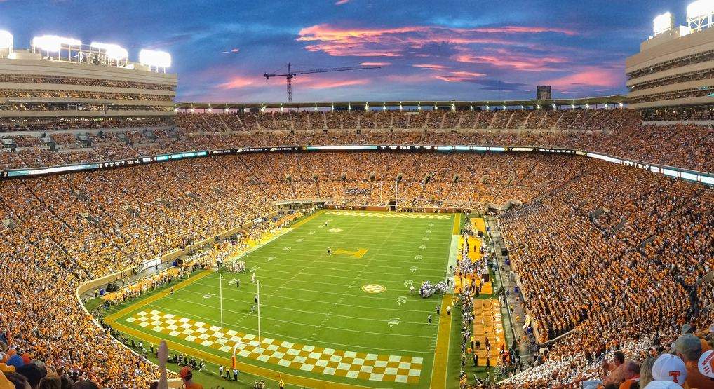 Neyland Stadium, home of the Tennessee Volunteers