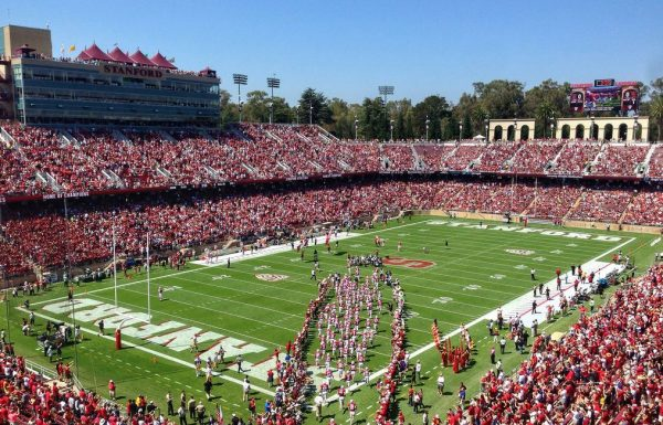 Stanford Stadium, home of the Stanford Cardinal