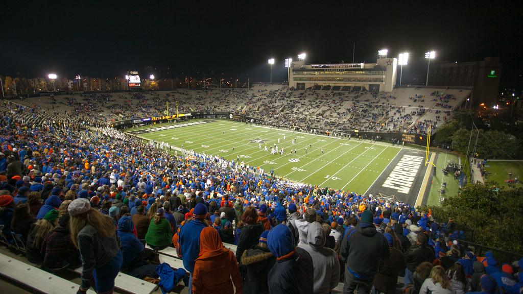 Vanderbilt Stadium, home of the Vanderbilt Commodores
