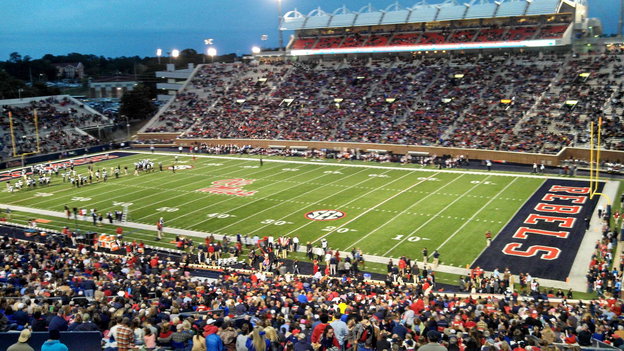Vaught Hemingway Stadium, home of the Ole Miss Rebels