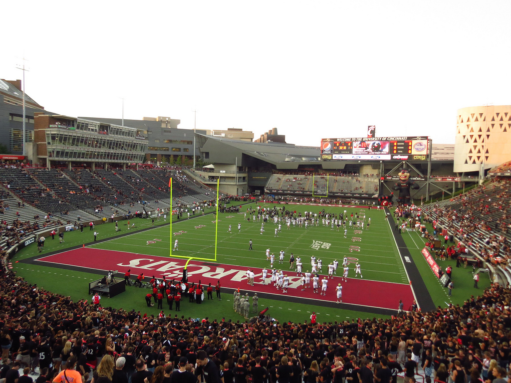 Nippert Stadium, home of the Cincinnati Bearcats