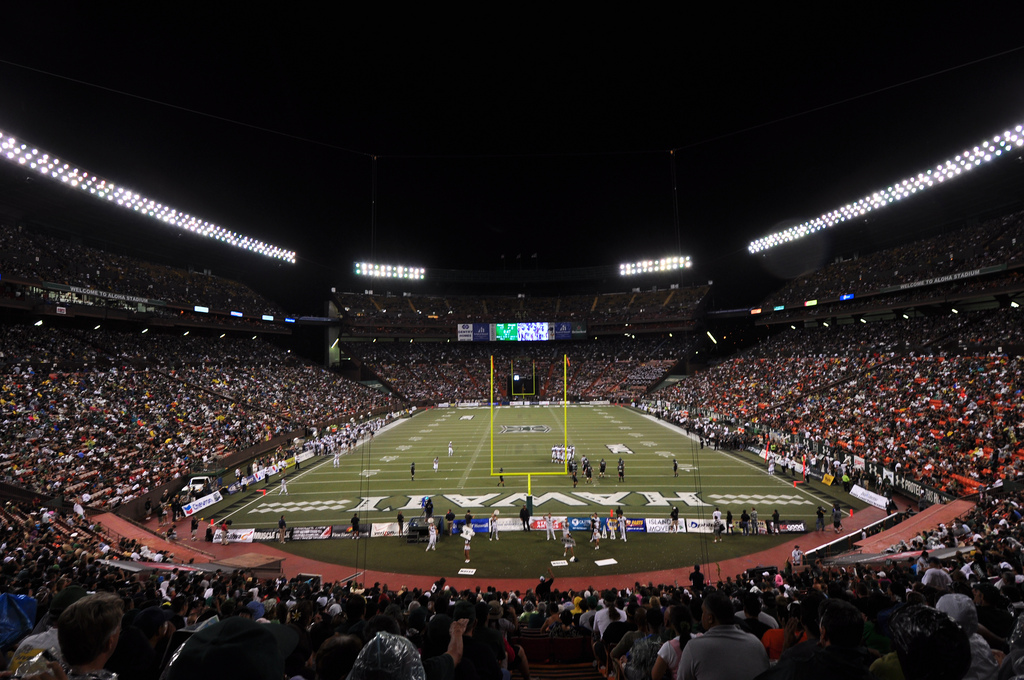Aloha Stadium, home of the Hawaii Warriors